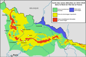 French government graphic showing risk level