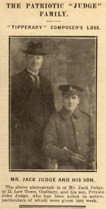 Jack Judge and his son John (from http://www.historyofoldbury.co.uk)